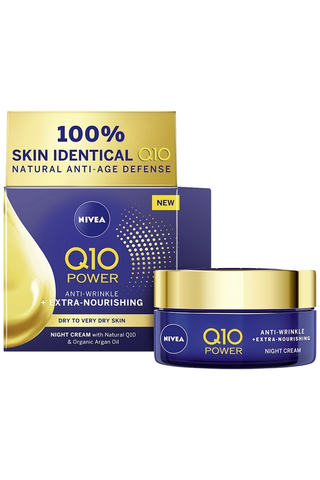 NIVEA 50ml Q10 POWER Anti-Wrinkle + Extra Nourishing Night Cream -yövoide