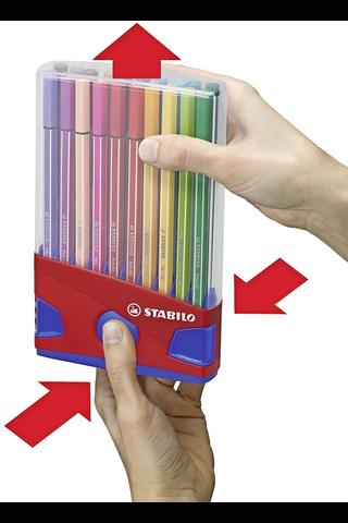 Stabilo tussikynäpakkaus Point 88 Fineliner 20 väriä sinisessä telineessä