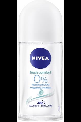 NIVEA 50ml Fresh Comfort Alu-Free Deo Roll-on -deodorantti