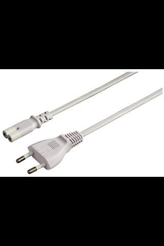 Hama laitevirtajohto 5m, Euro-plug - 2-pin-socket, valkoinen
