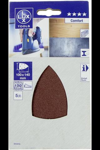 Lux hiomapaperi 100x140mm P120 5kpl