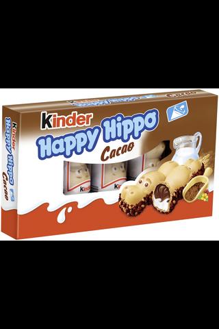 Kinder Happy Hippo 5-pack 103g maito- (36%) ja kaakaokreemillä (36%) täytetty rapea vohvelipatukka