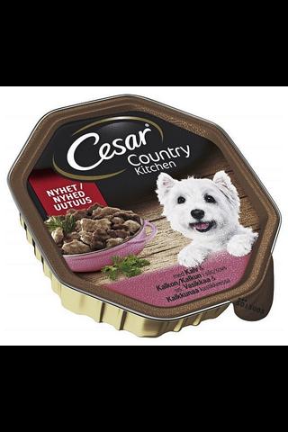 Cesar Country Kitchen Vasikanlihaa & Kalkkunaa kastikkeessa 150g