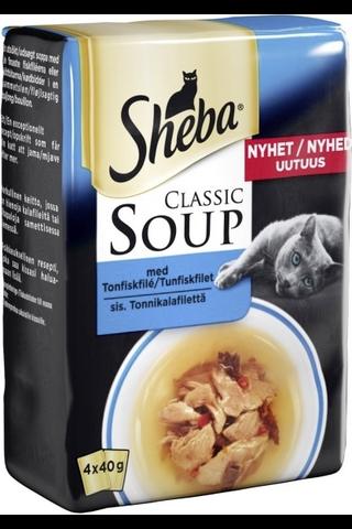 Sheba Soup Tonnikalafilettä liemessä 4x40g