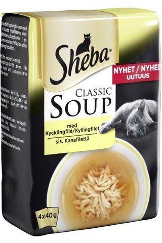 Sheba Soup Kanafilettä liemessä 4x40g