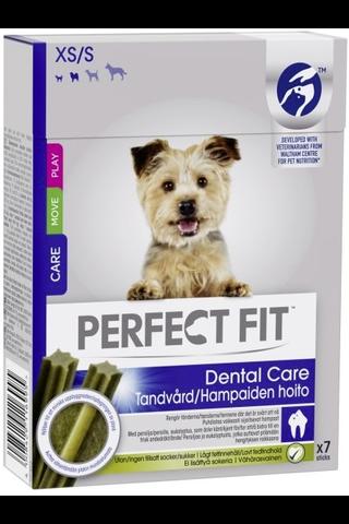 Perfect Fit 84g Dental sticks XS/S, täydennysrehua aikuisille koirille, alle 15 kg