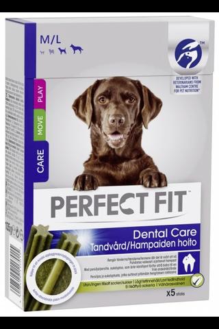 Perfect Fit 135g Dental sticks M/L, täydennysrehua aikuisille koirille, yli 15 kg