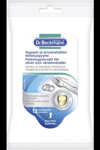 Dr Beckmann 12kpl Hopean&Arvometallien Kiillotuspyyhe