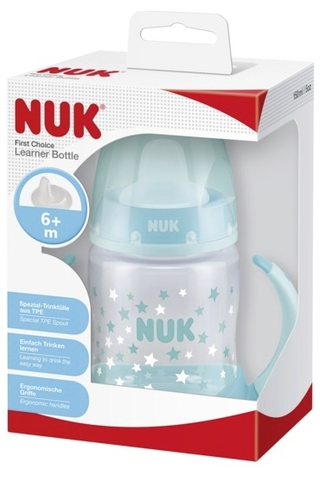 NUK First Choice 150ml nokkapullo silikoni 6-18kk
