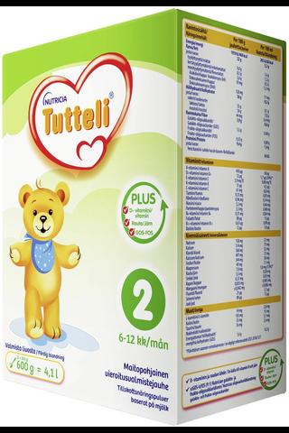 Nutricia Tutteli 600g Plus 2 vieroitusvalmiste 6-12kk