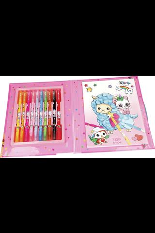 Manga Model Cute Friends värityskansio ja tussit