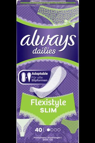Always 40kpl Slim Multiform Normal pikkuhousunsuoja
