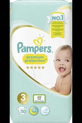 Pampers 50kpl Premium Protection S3 (6-10kg) vaippa