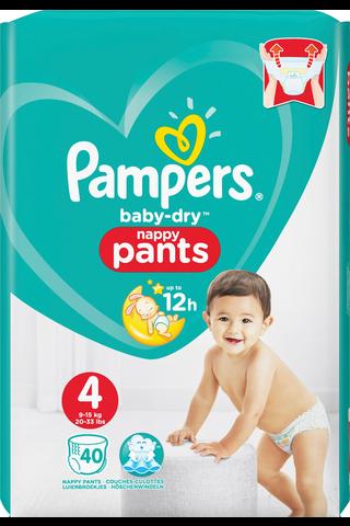 Pampers 40kpl Baby Dry Pants S4 9-15kg housuvaippa