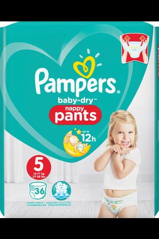 Pampers 36kpl Baby Dry Pants S5 12-17kg housuvaippa