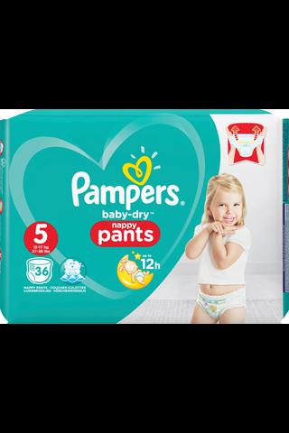 Pampers Baby Dry Pants housuvaippa S5 12-17kg 36kpl