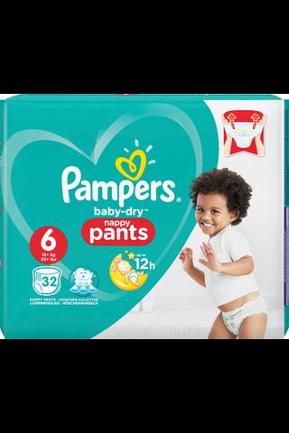 Pampers Baby Dry Pants housuvaippa S6 15+kg 32kpl