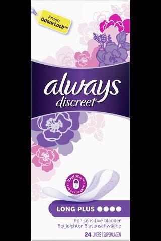 Always 24kpl Discreet Long Plus inkontinenssisuoja