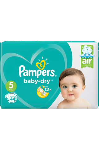 Pampers 44kpl BabyDry S5 11-16kg vaippa
