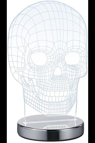 Trio Skull pöytävalaisin kromi