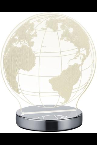 Trio Globe kromi pöytävalaisin