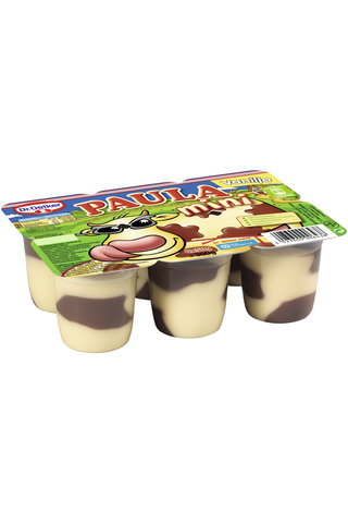 Dr.Oetker Paula Mini 6x50g Vaniljan makuinen vanukas ja suklaatäplät