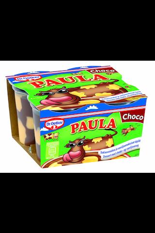 Dr.Oetker Paula 4x125g suklaavanukas ja vaniljatäplät