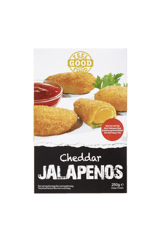 Dencon Foods Feel Good Food 250g cheddar jalapenos ja dippi, 10 x 250 g, 2,5 kg / laatikko, pakaste