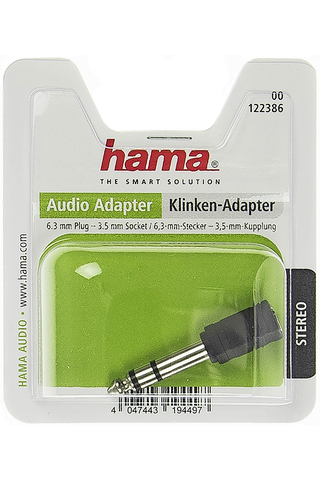 Hama audiosovite 3,5mm - 6,3mm, stereo