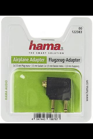 Hama 3,5mm audiosovite lentokoneeseen