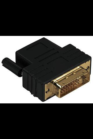 Hama DVI-D uros - HDMI naaras sovite, kullattu