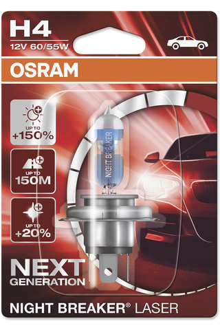 Osram Night Breaker Laser +150% H4 polttimo