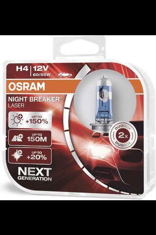 Osram Night Breaker Laser +150% H4 polttimopari