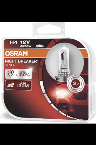 Osram Night Breaker Silver +100% H4 polttimopari