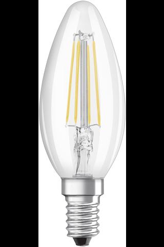 OSRAM led star kynttilälamppu B40 4W/827 230V filamentti kirkas lasikupu E14 BLI2