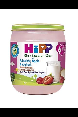 HiPP 160g Luomu Punaiset marjat, Omenaa ja jogurttia 6kk