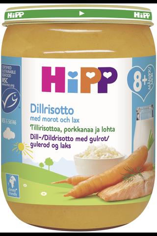 HiPP 190g Tillirisottoa porkkanaa ja lohta 8kk