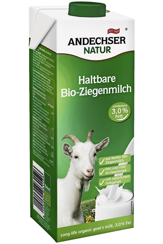 Andechser Natur 1l vuohenmaito 3,2% luomu