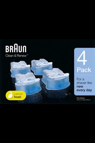 Braun 4kpl CCR4 Clean & Renew puhdistuskasetti