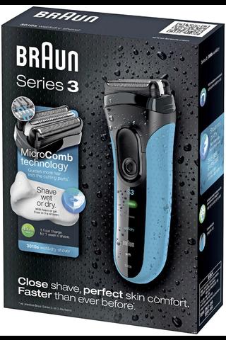 Braun 3-Series 3010S Wet&Dry parranajokone