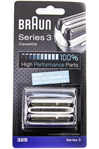 Braun 32S Silver Cassette