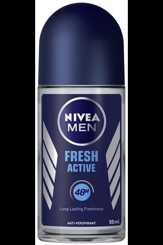 NIVEA MEN 50ml Fresh Active Deo Roll-on -antiperspirantti
