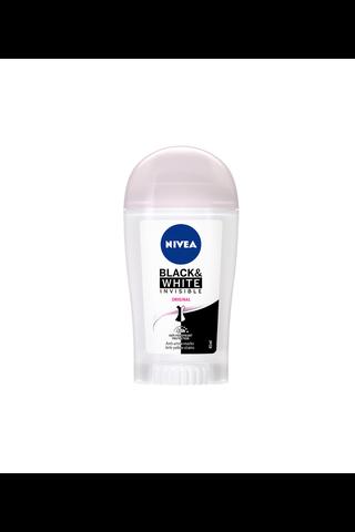 NIVEA 40ml Black & White Invisible Original Deo Stick -antiperspirantti