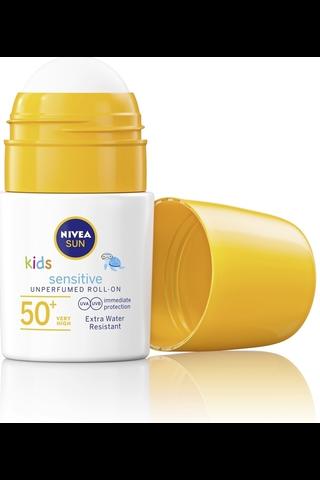 NIVEA SUN Kids 50ml Sensitive Sun Roll-on SK50+ -aurinkosuojavoide