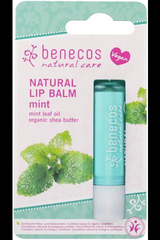 benecos luonnollinen huulivoide minttu pahvipakkaus 4,8g
