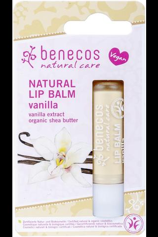 benecos luonnollinen huulivoide vanilja pahvipakkaus 4,8g