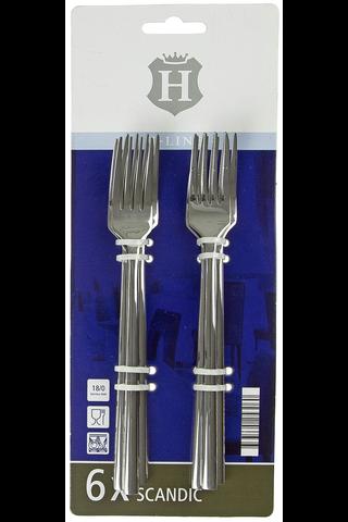 H-line Scandic ruokahaarukka 6 kpl/pkt