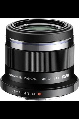 Olympus m.zuiko 45mm f/1.8 objektiivi musta