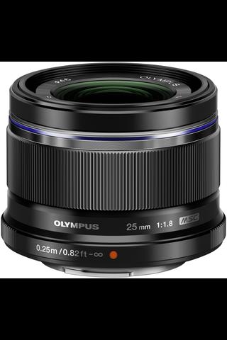 Olympus m.zuiko 25mm f/1.8 objektiivi musta
