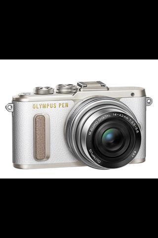 Olympus PEN E-PL8 14-42Ez kamera valkoinen